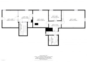 Second Floor, Floor Plan Middlefield Manor